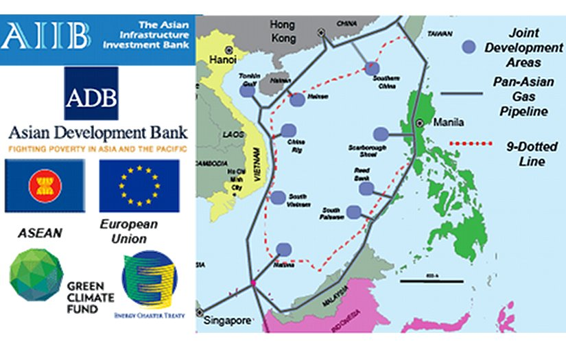 The Asian Infrastructure Investment Bank (AIIB) should fund development of the proposed Trans-ASEAN Gas Pipeline (TAGP) to calm worries regarding Chinese territorial claims to the entire South China Sea. Graphic Credit: Grenatec.