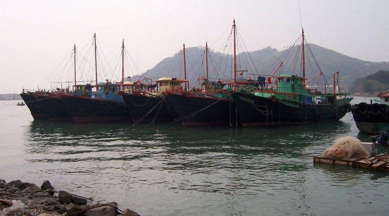 Chinese fishing boats. Photo by Enochlau, Wikipedia Commons.