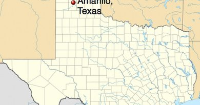 Location of Amarillo, Texas. Source: Wikipedia Commons.