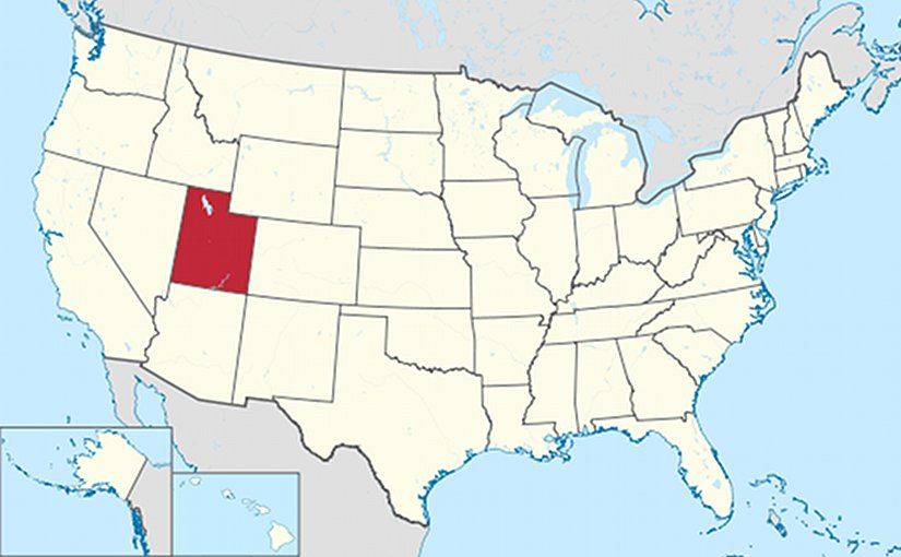 Location of Utah in United States. Source: Wikipedia Commons.