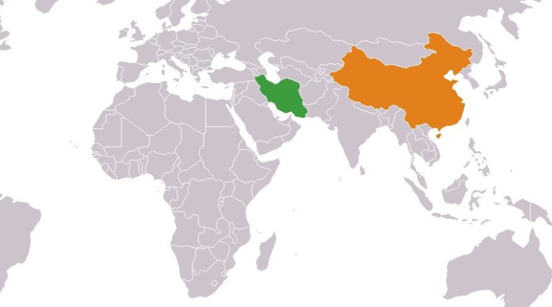 Locations of China and Iran. Source: Wikipedia Commons.