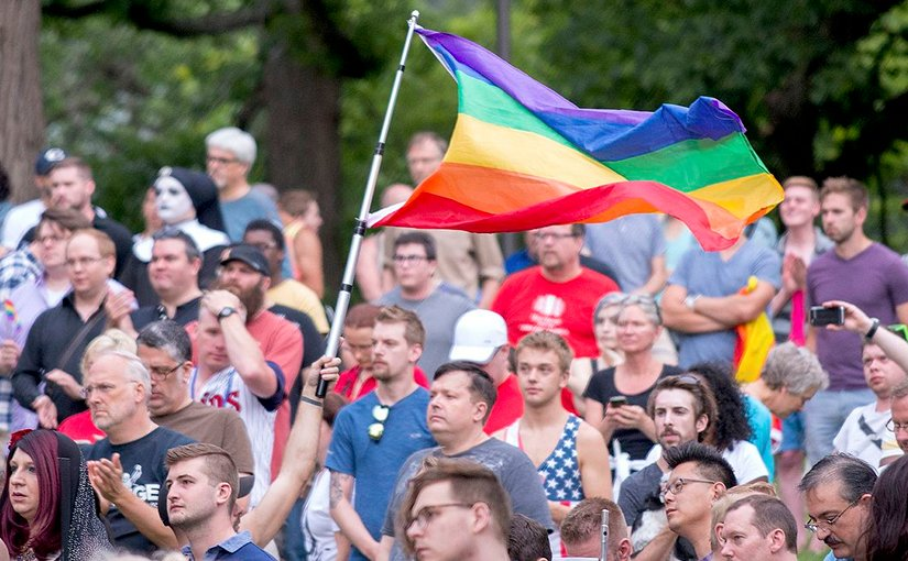 Vigil to unite in the wake of the Orlando, Florida, Pulse, shooting in Minneapolis, Minnesota. Photo by Fibonacci Blue, Flickr and Wikipedia Commons.
