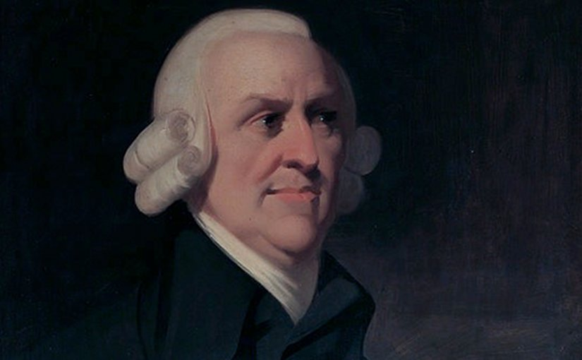Portrait of the political economist and philosopher Adam Smith (1723-1790) by an unknown artist, which is known as the 'Muir portrait' after the family who once owned it.
