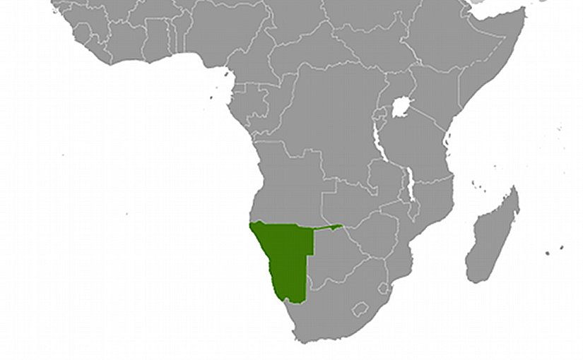 Location of Namibia. Source: CIA World Factbook.