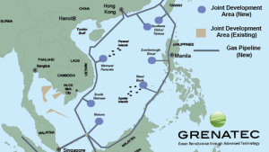 Connected by pipeline infrastructure, they would more deeply integrate Asia's energy markets. Source: Grenatec