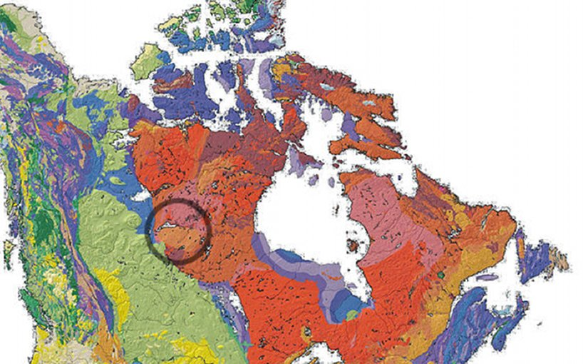 Location of the Athabasca Basin in the Canadian Shield. Source: Wikipedia Commons