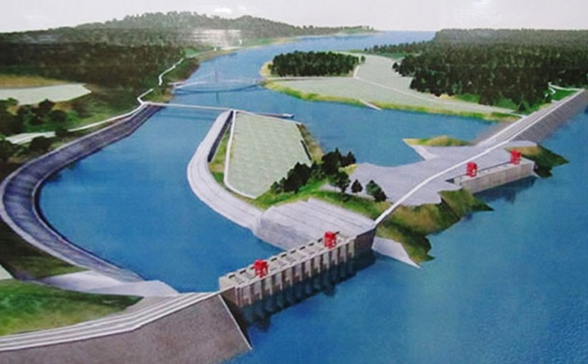 An overview rendition of the Myitsone Dam in Burma. Source: Wikipedia Commons.