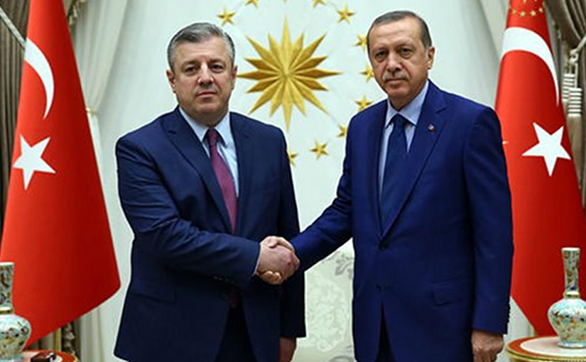 Georgia's PM Giorgi Kvirikashvili and Turkish President Recep Tayyip Erdoğan, Ankara, July 19, 2016. Photo: Turkish president's office