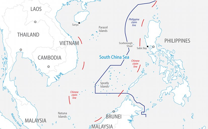 Chinese and Philippine claims in the South China Sea. Source: FPRI.