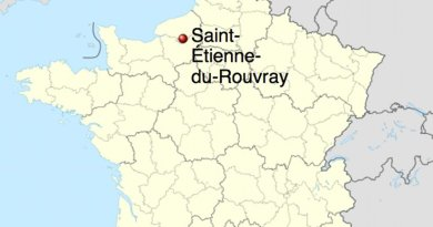 Location of Saint-Étienne-du-Rouvray, France. Source: WIkipedia Commons.