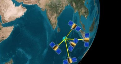 Clusters of four or more small satellites could look at a single location on Earth from multiple angles, and measure that location's total reflectance with an error that is half that of single satellites in operation today, an MIT-led study suggests. Credit Courtesy of the researchers (edited by MIT News)