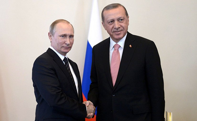 Russian President Vladimir Putin and Turkish President Recep Tayyip Erdogan. Source: Kremlin.ru