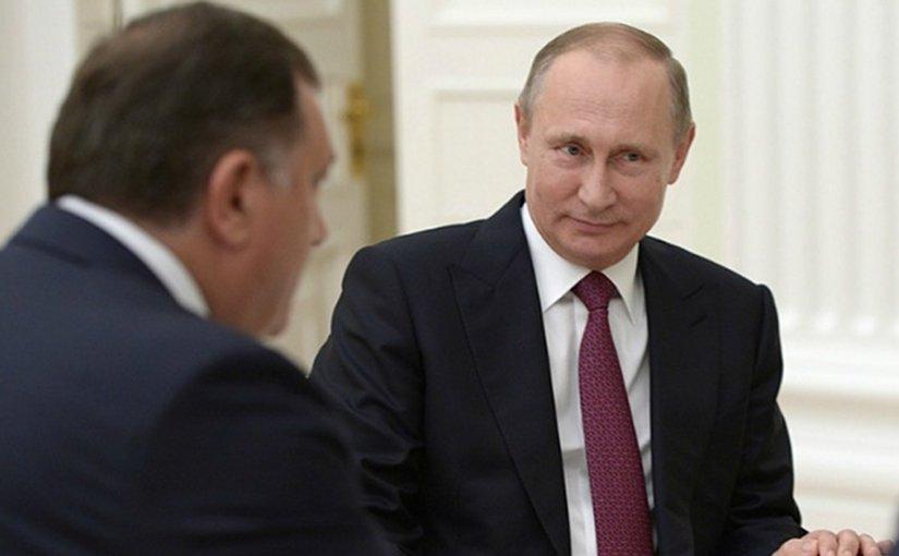 President of Republika Srpska, Milorad Dodik, with Russian President Vladimir Putin. Photo: kremlin.ru