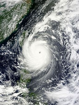 Typhoon Nepartak over Taiwan (Source: NASA)