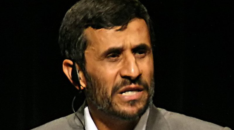 Iran's Mahmoud Ahmadinejad. Photo by Daniella Zalcman, Wikipedia Commons.