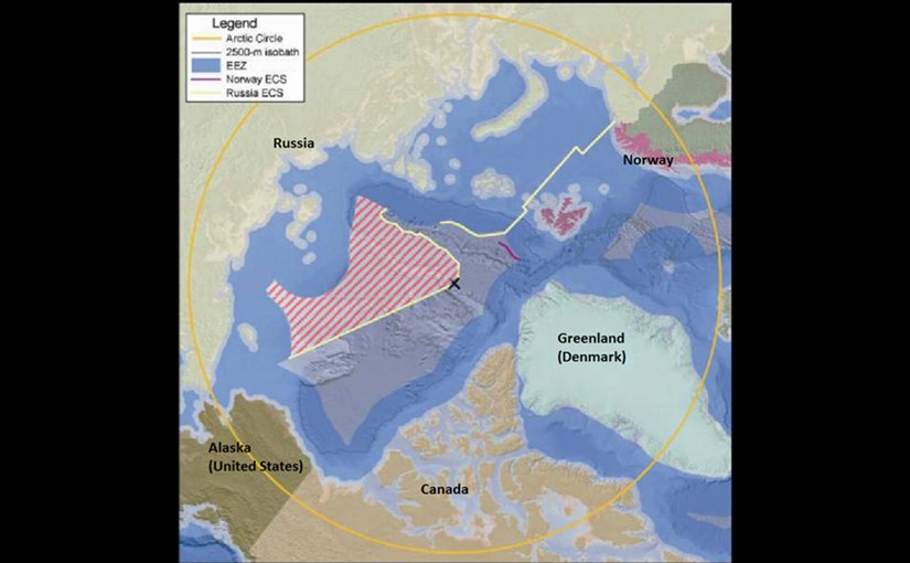 Russia has extensive territorial claims in the Arctic region. Graphic by Brian Van Pay, Wikipedia Commons.