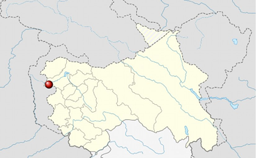 Location of Uri in Jammu and Kashmir, India. Source: Wikipedia Commons.