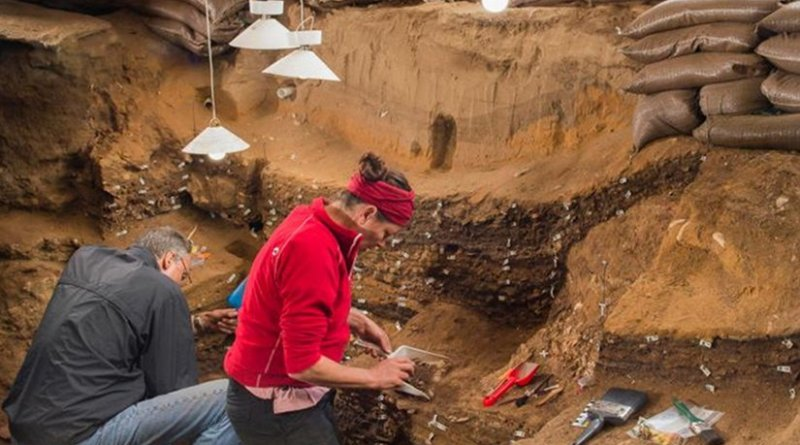 Findings in South Africa show that innovation among early humans was not primarily driven by climate change. The photo shows researchers at work in Blombos Cave, South Africa. Credit Photo: Magnus Haaland, University of Bergen