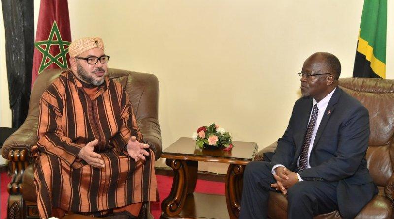 Morocco's King Mohammed VI and Tanzania's President John Pombe Magufuli.