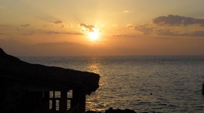 Sunset on Jamaica beach.