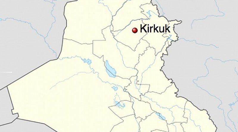 Kirkuk's location in Iraq. Source: Wikipedia Commons.