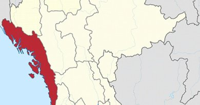 Location of Rakhine State in Myanmar. Source: Wikipedia Commons.