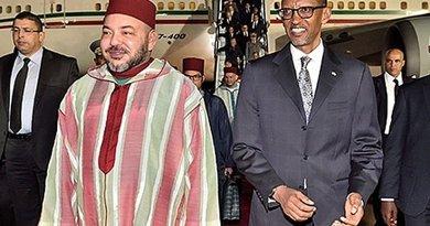 Morocco's King Mohammed IV and Rwandan President Paul Kagamé.