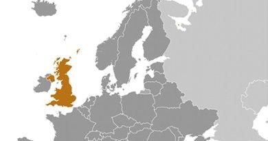 Location of United Kingdom. Source: CIA World Factbook.