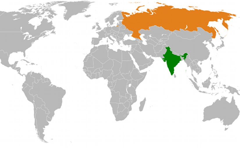Locations of India and Russia. Source: Wikipedia Commons.
