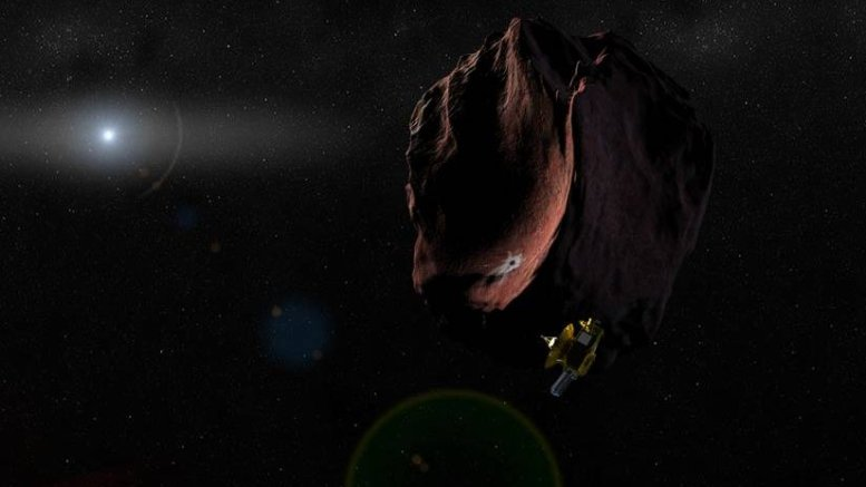 Artist rendition of New Horizons spacecraft