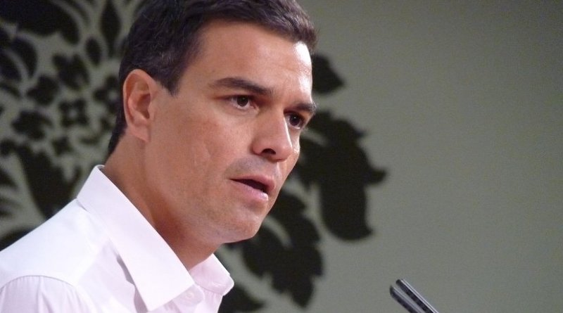 Spain's Pedro Sanchez of PSOE. Source: PSOE Extremadura, Wikimedia Commons.