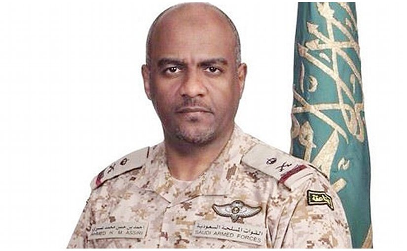 Arab coalition's spokesman Maj. Gen. Ahmed Al-Assiri