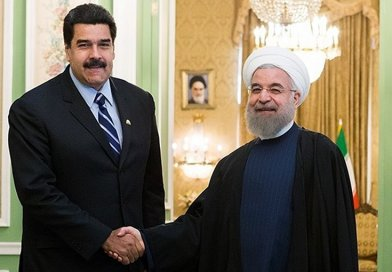Venezuela's Nicolas Maduro meeting with Iranian President Hassan Rouhani. Photo by Hossein Zohrevand, Wikipedia Commons.