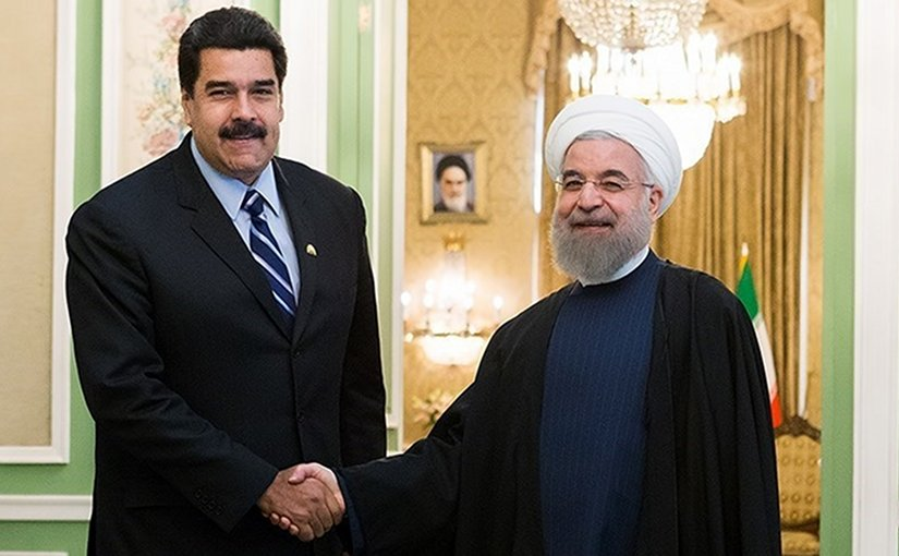Venezuela's Nicolas Maduro meeting with Iranian President Hassan Rouhani. Photo by Hossein Zohrevand, Wikipedia Commons.