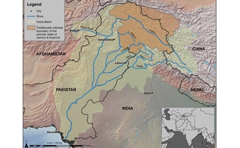 This is a map of the geographical extent of a hypothetical Industan Credit UNU-INWEH