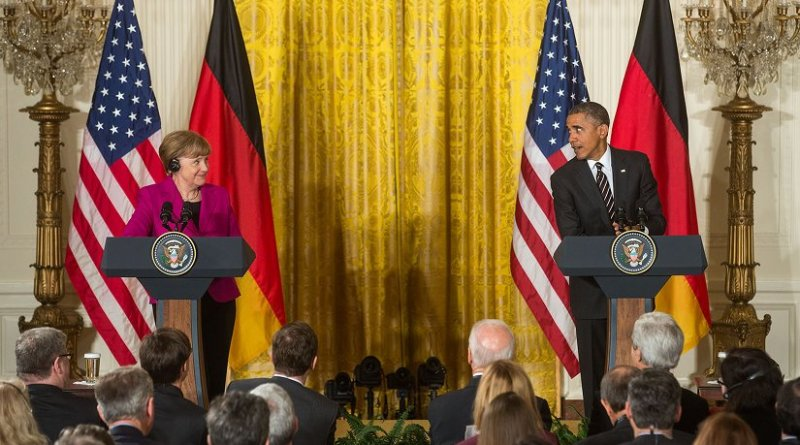 President Barack Obama and Chancellor Angela Merkel of Germany. File Photo by Chuck Kennedy, White House.