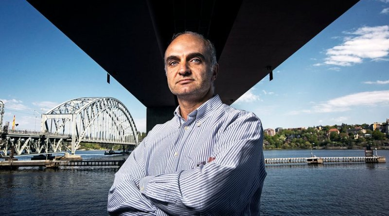 Raid Karoumi, a professor in the division of Structural Engineering and Bridges at KTH Royal Institute of Technology, beneath one of Stockholm's connected bridges. Photo: Håkan Lindgren