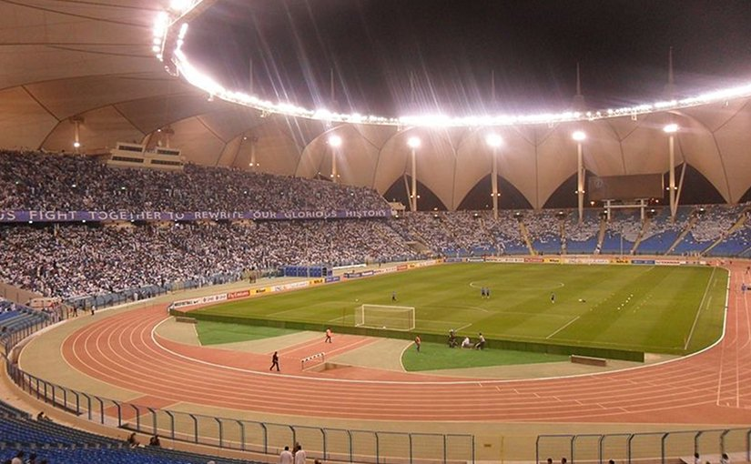 King Fahd International Stadium, Riyadh, Saudi Arabia. Photo by على المزارقه Wikipedia Commons.