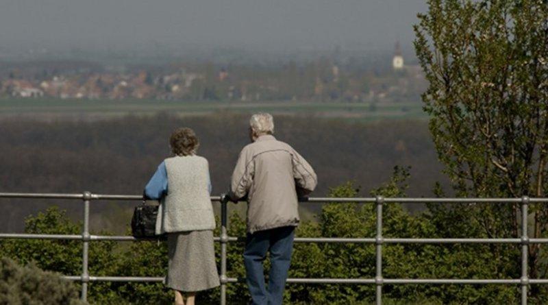 Couple aging elderly