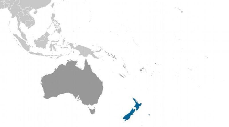 Location of New Zealand. Source: CIA World Factbook.