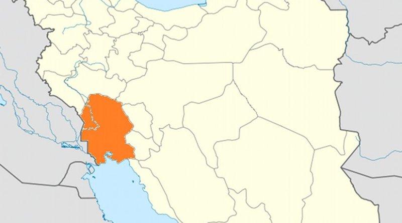 Location of Khūzestān within Iran. Source: Wikipedia Commons.