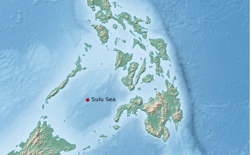 Location of the Sulu Sea.