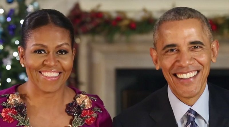 Merry Christmas from US President Barack Obama and the First Lady Michelle Obama. Screenshot White House Video
