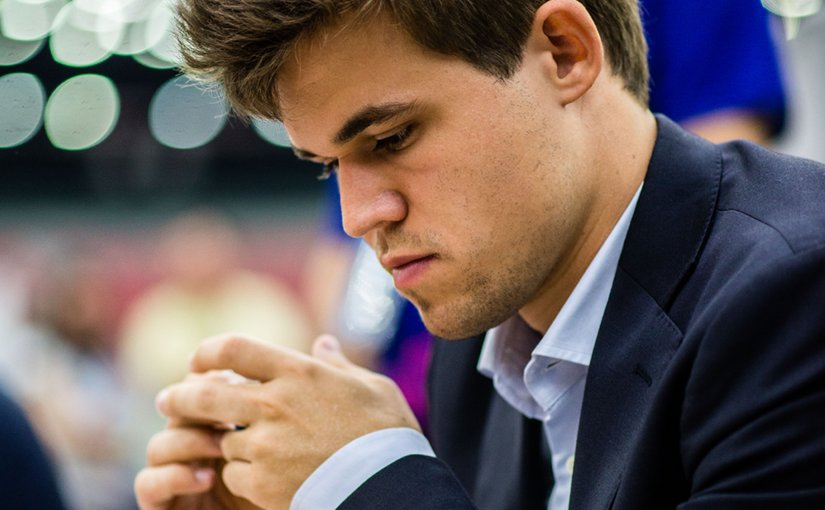 Magnus Carlsen. Photo by Andreas Kontokanis, Wikipedia Commons.