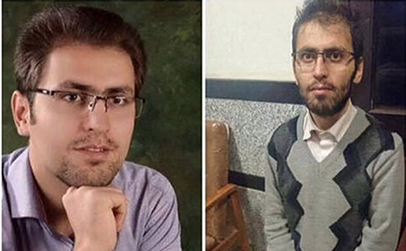 Morteza Moradpour before and after the hunger strike. Photo via Radio Zamaneh.