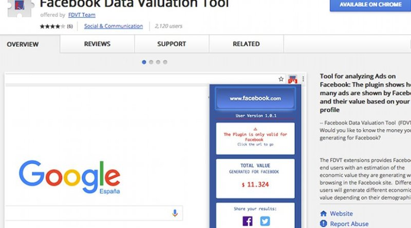 Facebook Data Valuation Tool