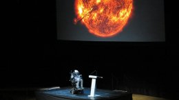 Stephen Hawking. Photo by Alexandar Vujadinovic, Wikipedia Commons.