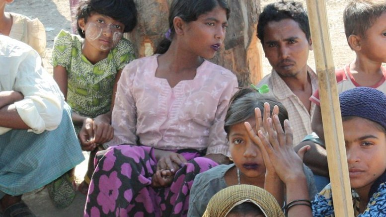 Displaced Rohingya people in Rakhine State, Burma. Photo Foreign and Commonwealth Office, Wikipedia Commons.