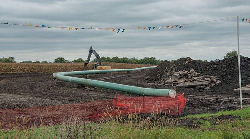 Dakota Access Pipeline in Iowa, United States. Photo by Carl Wycoff, Wikipedia Commons.