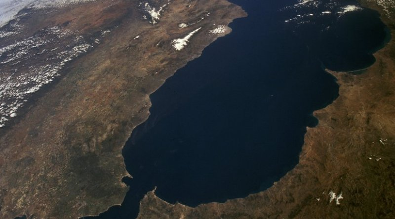 Satellite image of the Gibraltar Arc (NASA)